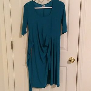 JW maternity teal dress